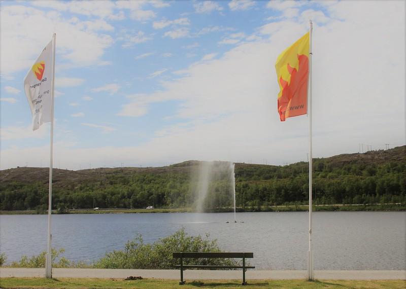 Flagg ved Førstevatn i Sør-Varanger kommune. Foto: Siv M. Wollmann, Sør-Varanger kommune. Bilde gjengitt med tillatelse.